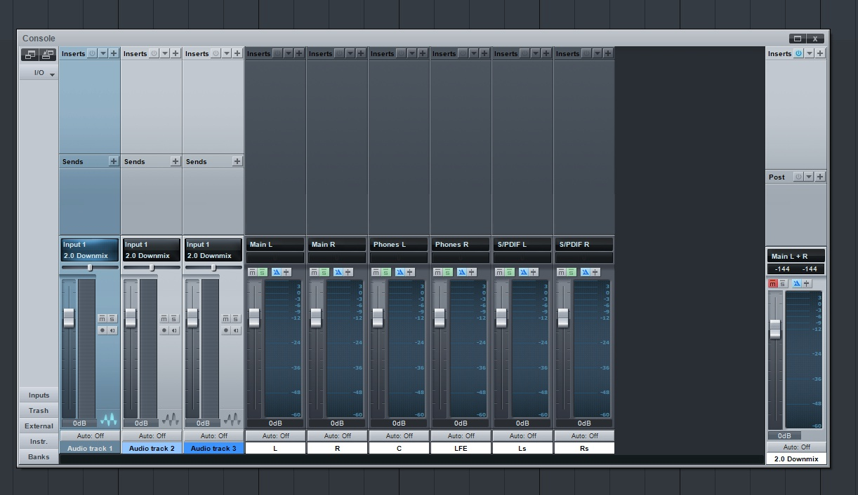 Studio one surround tutorial 4 press ok and open up the mixing console it should look something like this baditri Gallery